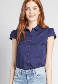 ModCloth ModCloth Off to a Good Start-Up Cap Sleev