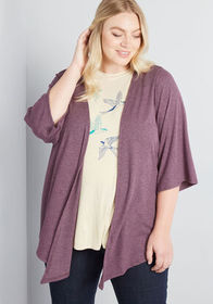 ModCloth ModCloth Knot or Not Tied Cardigan Wine