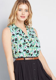 ModCloth Part of the Plan Sleeveless Top in White