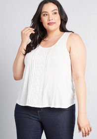 ModCloth Blissful Mission Tank Top White