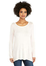 The Limited Curve Hem Tunic Sweater