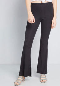 Here Nor There Flared Leggings in Black