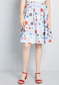 ModCloth ModCloth Pleasing as the Breeze A-Line Sk