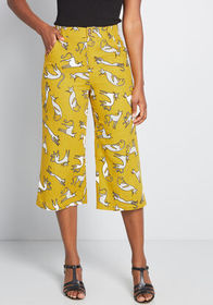 ModCloth ModCloth All In Cropped Wide-Leg Pants Mu