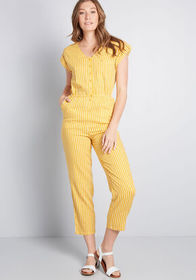 ModCloth ModCloth Instantly Easygoing Jumpsuit Yel