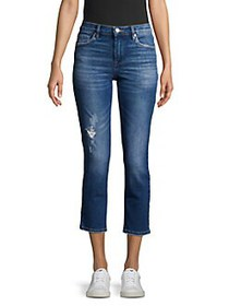 Blank NYC Radio Silence Distressed Cropped Jeans R