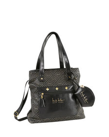 Nicole Miller Soho Patterned Tote Bag w/ Pullout P