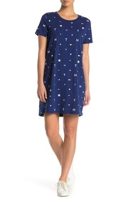 Tommy Hilfiger Allover Logo T-Shirt Dress