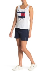 Tommy Hilfiger Ribbed Side Drawstring Knit Shorts