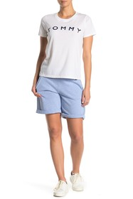 Tommy Hilfiger Ribbed Side Cuffed Knit Shorts