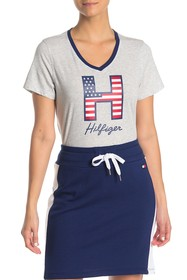 Tommy Hilfiger Graphic Logo V-Neck T-Shirt