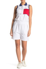 Tommy Hilfiger Colorblock Knit Polo Romper
