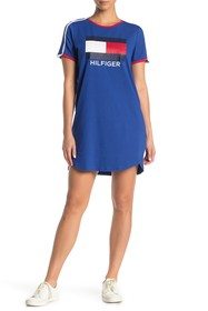 Tommy Hilfiger Pipe Trim Logo Front T-Shirt Dress