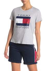 Tommy Hilfiger Logo Graphic Crew Neck T-Shirt