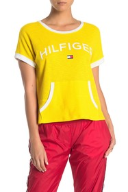 Tommy Hilfiger Textured Knit Pocket Front T-Shirt