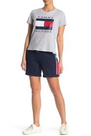 Tommy Hilfiger Colorblock Side Cuffed Knit Shorts