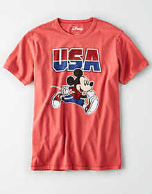 American Eagle AE USA Mickey Mouse Graphic T-Shirt