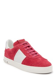 Valentino Rockstud Suede Lace Up Sneaker