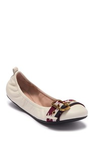 Marc Jacobs Dolly Leather Buckled Ballerina Flat