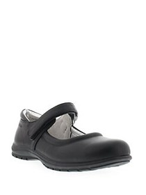 Kenneth Cole Dolly School Velcro Mary Janes BLACK