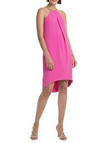 Trina Turk Shangri La Lucky Crepe Shift Dress PINK