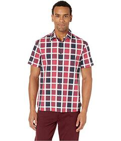 Perry Ellis Medium Check Dobby Shirt