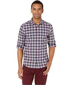 Perry Ellis Check Print Stretch Shirt