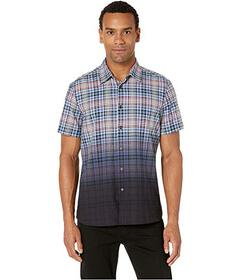 Perry Ellis Dip-Dye Plaid Shirt