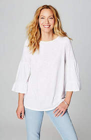 Tiered-Sleeve Knit Top
