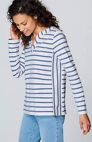 Ocean Breeze Mixed-Stripes Knit Top