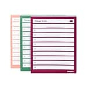 Poppin Message Pads, 4 x 5, Assorted, 100 Sheets/P