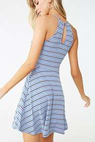 Forever21 Striped Fit & Flare Dress