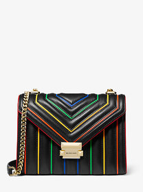 Michael Kors Whitney Large Rainbow Quilted Leather