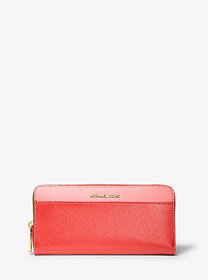 Michael Kors Tri-Color Crossgrain Leather Continen