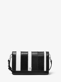 Michael Kors Striped Leather Convertible Crossbody
