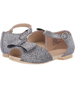 Janie and Jack Glitter Bow Sandal (Toddler\u002FLi