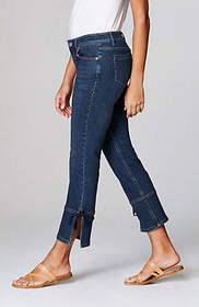 Authentic Fit Cropped Side-Tie Jeans