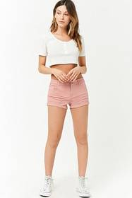 Forever21 Cuffed Woven Shorts