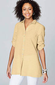 Textured A-Line Tunic
