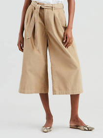 Levi's Wide Leg Pleated Corduroy Pants