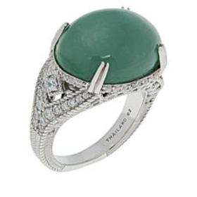 Judith Ripka Sterling Silver Colored Jade and Diam