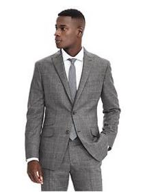 Standard Gray Plaid Wool Suit Jacket