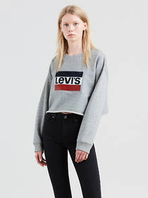 Levi's Graphic Raw Cut Hem Sweatshirt