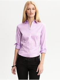 Tailored non-iron sateen shirt
