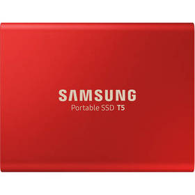 Samsung 1TB T5 Portable Solid-State Drive (Red)