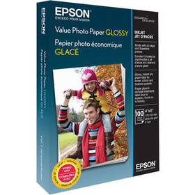 """Epson Value Photo Paper Glossy (4 x 6"""", 100 Sheets"""