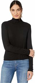 Splendid 2x1 Rib Eastsider Mock Neck Tee
