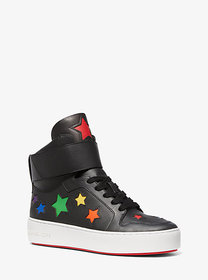 Michael Kors Trent Star-Cutout Leather High-Top Sn