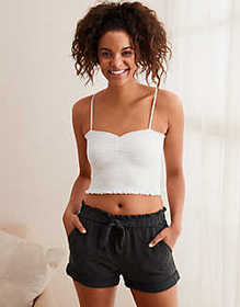 American Eagle Aerie Smocked Tube Top