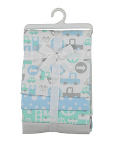 Nicole Miller Vehicles Printed Baby Blankets Set o
